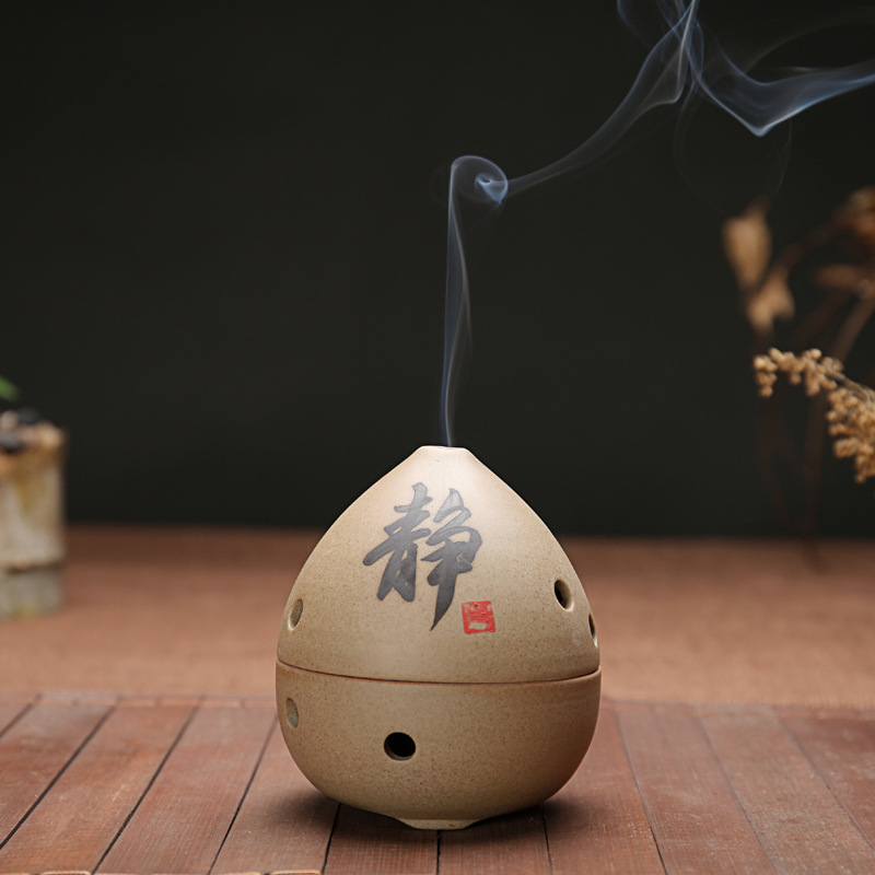 Stoneware 4/2 Hours Coil Incense Censer Abstract Ceramic Stick Incense Burner Living Room Home Decor Teshouse Ornament Static