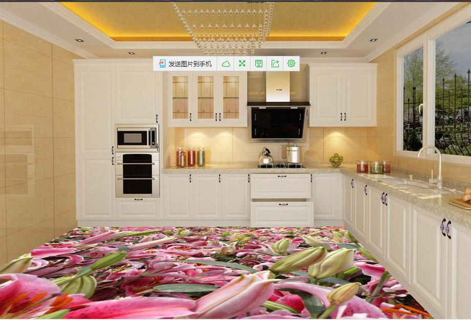 Online get cheap paper tulip alibaba group for Bathroom 3d wallpaper