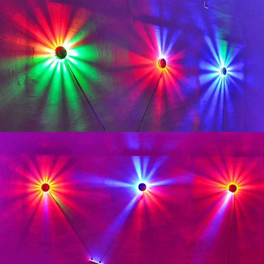 Image 5 - 8W 48LEDs RGB Auto Color Changing Rotating Sunflower UFO LED Stage Light Bar Disco Dancing Party DJ Club Pub Music Lights-in Stage Lighting Effect from Lights & Lighting on