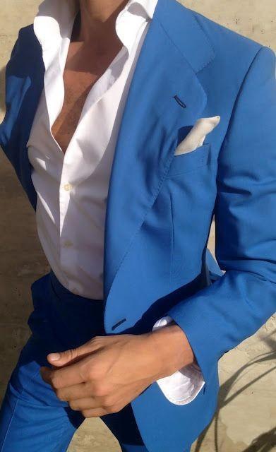 Summer Blue Men Suits Casual Men Wedding Suits Notched Lapel Grooms Tuxedos Two Piece Men Suits Two Button Slim Fit Groomsmen Su