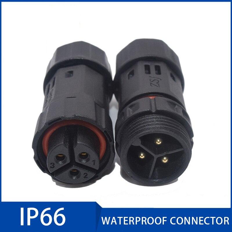 3//4//5//6Pins Assembled IP68 Waterproof Soldering Connector Plug Socket