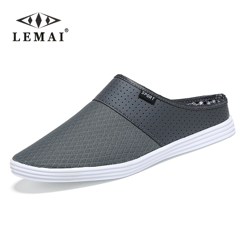 2016 New men slippers fashion breathable Hollow out sandals flip flops leather trend of the drag