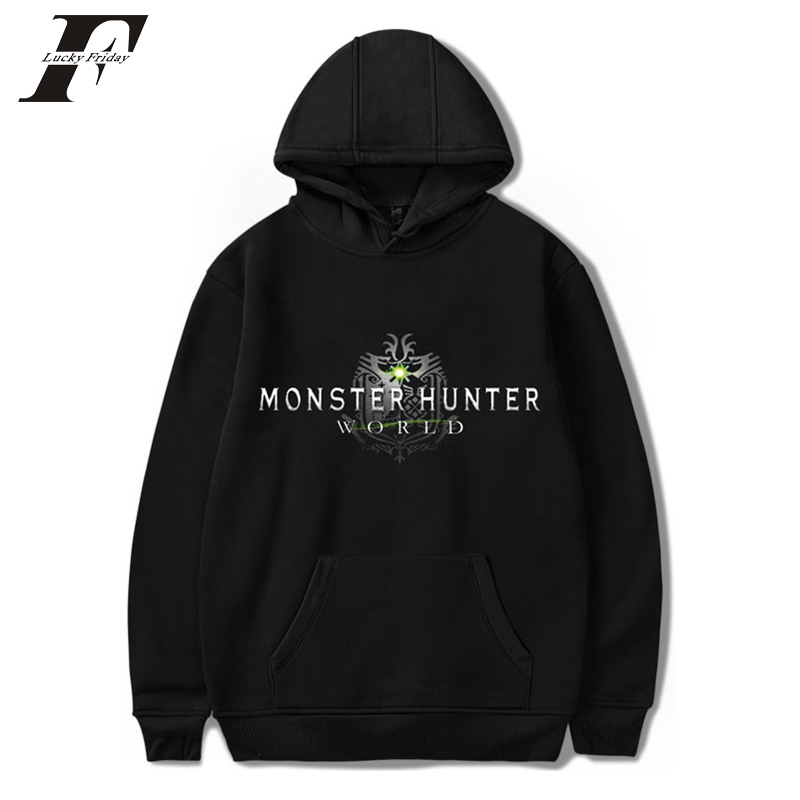 LUCKYFRIDAYF 2018 Monster Hunter World oversized Hoodie sweatshirt men/women Harajuku Hip Hop mens pullover Hoodie