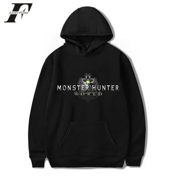 LUCKYFRIDAYF 2018 Monster Hunter World oversized Hoodie sweatshirt men/women Harajuku Hip Hop mens pullover Hoodie