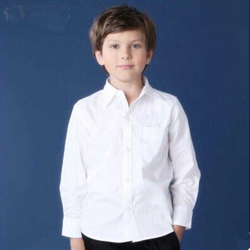 c43bbccf5f65b Nuevo estilo Boy camisa blanco bebé niños ropa camisa de vestir de manga  larga escuela niños blusa en Camisas de Mamá y bebé en AliExpress.com