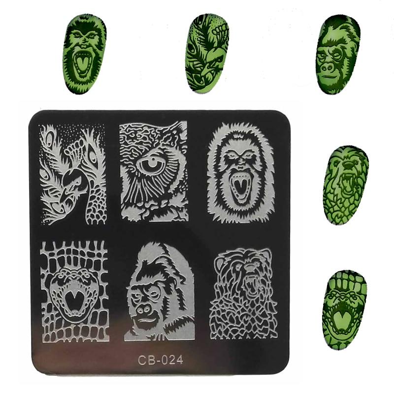 1Pcs 6CM მაღალი ხარისხის ფრჩხილის დალუქვის ფირფიტები უჟანგავი ფოლადის გამოსახულების ბეჭედი ფრჩხილის ხელოვნების მანიკურის შაბლონი ლურსმნების ბეჭდის ხელსაწყოები