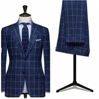 New Style Custom Made Men's suits Bespoke Wedding Mens Suits Party Prom Groom Tuxedos Best Man Suits (Jacket+Pants)