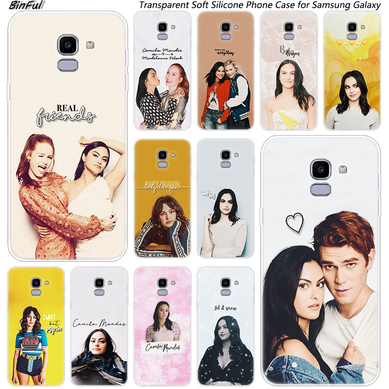 Camila Mendes Riverdale Soft Silicone Phone Case For Samsung Galaxy J8 J6 J4 2018 J2 Core J5 J6 J7 Prime J3 2016 2017 EU J4 Plus image