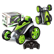 Wireless Remote Control Car Tumbling Stunt Dump Truck Toys For Children Electric