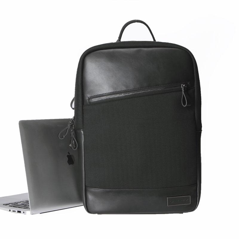GEARMAX PU LEATHER Traveling Backpacks 14 15 15.6 Waterproof Laptop Bags for MacBook Pro 15.4 Black Hiking Women Mens Backpack