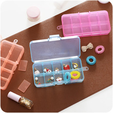 1pc Detachable Simple Plastic Storage Box Covered Jewelry Box Small Accessories Classified Storage Box(China)