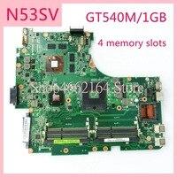 mainboard האם N53SV 4 חריצי זיכרון GT540M / REV2.0 mainboard 1GB / REV2.2 עבור ASUS N53S N53SV N53SN N53SM נייד האם MAIN BOARD (1)