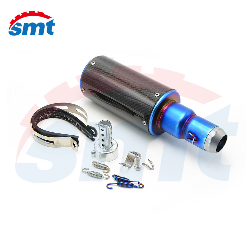 motorcycle accessories parts motorcycle muffler carbon fiber 50mm exhaust pipe For YAMAHA YZF600 R6 YZF1000 R1 free shipping carbon fiber id 61mm motorcycle exhaust pipe with laser marking exhaust for large displacement motorcycle muffler