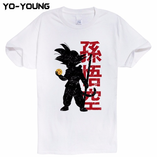 Newest Anime Dragon Ball Printing Men T-Shirts Goku Vegeta Funny T Shirts 100% 180g Combed Cotton Top Tees Homme Customized