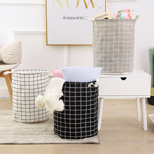 Foldable Dirty Laundry Basket Organizer Waterproof Cotton And Linen Bathroom Clothes Storage