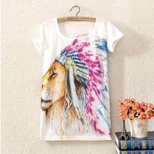 2017 Brand New Polyester T Shirt Women Short Sleeve t shirt o neck Causal loose print