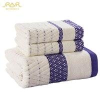ROMORUS 100% Soft Cotton Bathroom Towel Set 3 PCS Brand Beach Bath Towels for Adults Sports Face Towel Wholesale RMR271226