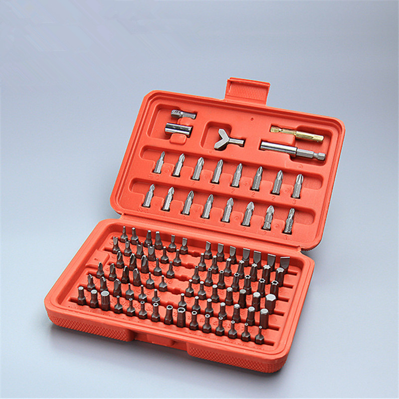 100pcs Chrome Vanadium Steel Security Screwdriver Bits Tool Set Torx Hex Drill Star Spanner Screw <font><b>Driver</b></font> image