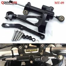 цена на For Yamaha MT 09 MT09 MT-09 FZ09 FZ-09 2013- 2016 Motorcycle Damper Steering Stabilize Safety Control Bracket Mount kit