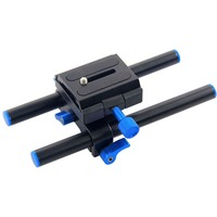 DSLR Camera Base Plate Universal 15mm Rail Rod Support System 1/4