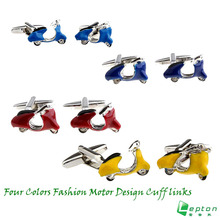 Lepton Fashion Motor Design Cufflink  4 colors motorcycle style cufflink gifts cufflinks for men,Promotion,Free Shipping