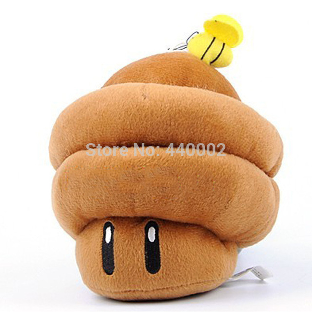 New Super Mario Brothers Plush Figure 6 1 2 Brown Mushroom In
