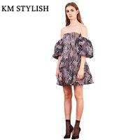 Australian designer 2018 spring and summer new tube top short sleeve mesh embroidery dress