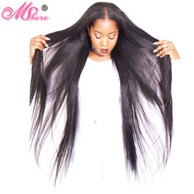 Malaysian Straight Human Hair Weave Bundle 1/3/4 Pcs Non Remy Hair Extension Natural Black 1B# Can Be Dyed Bleached Mshere Hair(China)