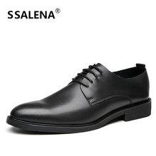 Men Formal Leather Dress Shoe Classic Business Gentleman Wedding Shoes Male Pointed Toe Classic Formal Shoes AA11706