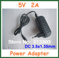 5V 2A Charger Power Supply DC 3.5x1.35mm for Tablet PC Ainol Novo 7 Crystal / Fire Flame / Aurora II / ELF II Adapter EU US Plug