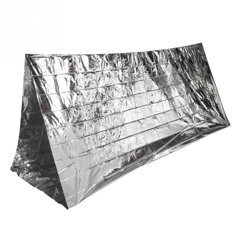 Emergency Shelter Tent Blanket Reflective Outdoor Ultralight Portable Camping Shelter Emergency Survival Tent First Aid Gear mini kompas sleutelhanger