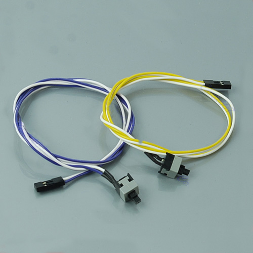 100pcs PC Laptop Computer Desktop ATX Power On Supply Reset Switch Connector Cable Cord #K400Y# jfbl 2x 67 desktop computer case power supply reset hdd button switch