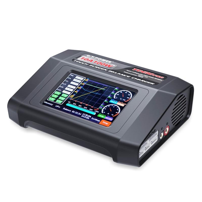 GTP TD610 PRO AC 100 240 V wejście kolorowy ekran dotykowy 100 W 10A zabawka do utrzymywania równowagi z ładowarką dla 1 6 S LiPo Lilon życie LiHV 1 14 S NiMH/NiCd w Części i akcesoria od Zabawki i hobby na  Grupa 2