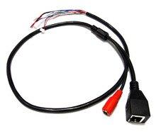 10pcs CCTV IP network Camera PCB Module video power cable, 60cm long,RJ45 female & DC male connectors with Terminlas