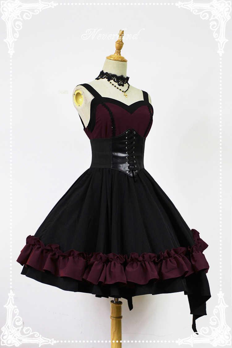 5a6f4413fae ... Gothic Lolita Dress Dark Angel Series High Low Lolita JSK Dress by  Soufflesong ...