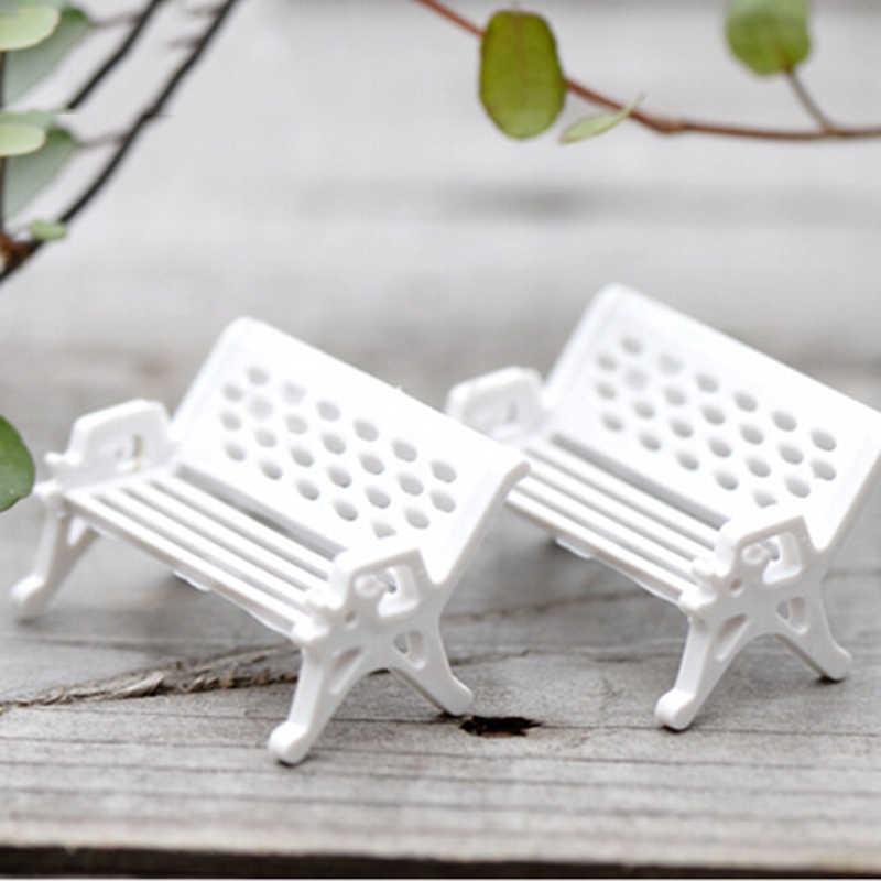 1 قطعة جميلة لطيفة حديقة الجنية جنوم موس تررم ديكور الحرف بونساي ذاتية الصنع الحلي الصغيرة كرسي أبيض دمية منزل المنمنمات