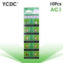 Cheap 10 Pcs AG1 364 LR621 164 531 SR60 SR621SW pile 1.55V Alkaline Watch Coin Cell Battery pilha  watch batteries goop cm01 ag1 lr621 364 164 1 5v alkaline cell button batteries 10 packs 100 pcs
