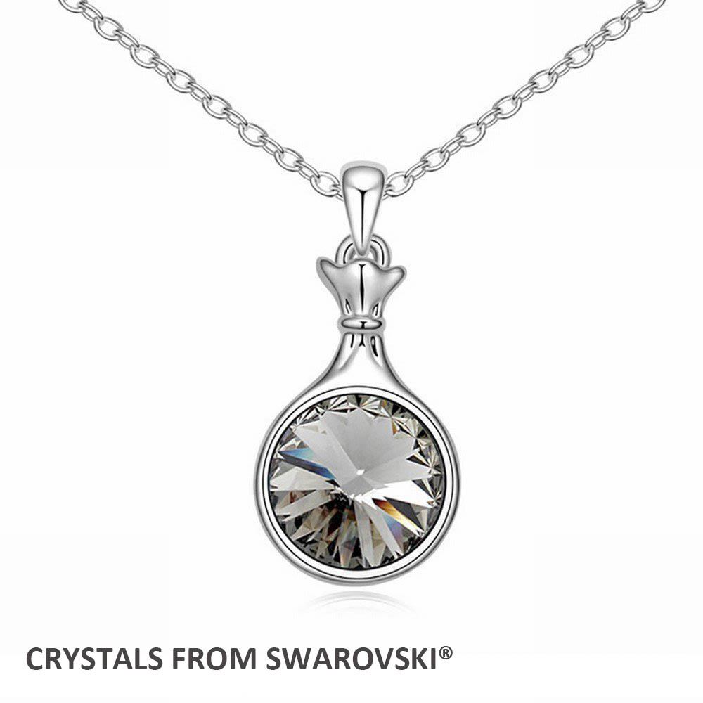 2016 Charming Rould crystal bottle shaped pendant necklace With Genuine Crystals from SWAROVSKI for Valentine's D Bijoux