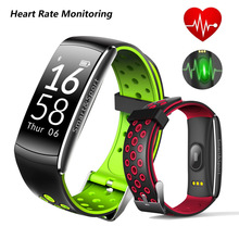 Smart Bracelet Heart Rate Monitor Fitness Tracker Bluetooth Wristband IP68 Waterproof Monitor watch Smartband For Android IOS