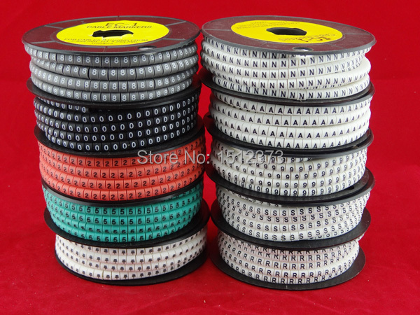 10roll/lot colorful Cable marker EC-1 2.5 square meter mark cable