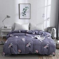 Dark Purple Print Pattern Polyester Fiber Cotton Duvet Cover Full Queen Size Quilt Case Duvet Covers King Size 200x230cm Size