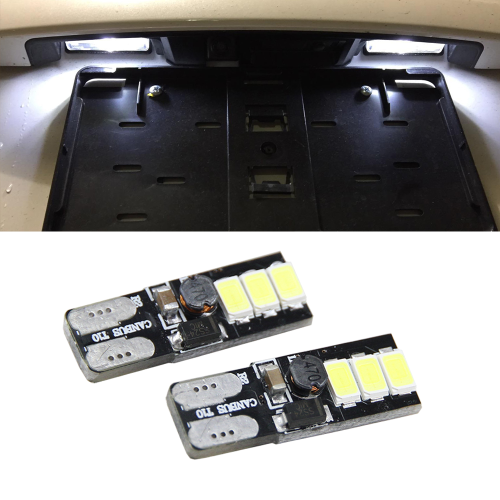 2pcs/lot 5630 6SMD Canbus Led License Plate Light Lamp For Jeep Cherokee XJ 1997-2001 12V Tail License Plate LED