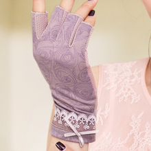 REALBYWomens FingerlessGloves Summer Sunscreen Guantes Vintage Mittens Lace Bow Gants Femme luvasDeinvernoTouchScreenGloves 2018