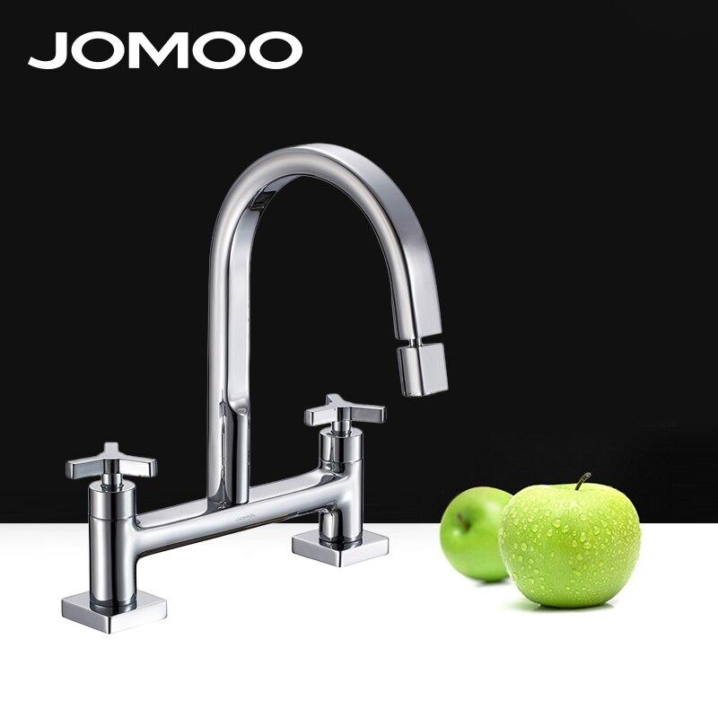 JOMOO Basin Sink Faucet Bathroom Lavatory Deck Mount Double Handle ...