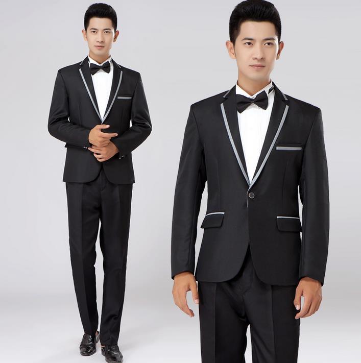Compare Prices on Mens Designer Suit Slim Fit Cotton Black Grey ...