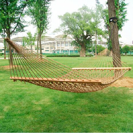 Outdoor tent activities of cotton rope hammock double mesh adult and children swing wooden stick Bearing 400kg outdoor double layer 10 14 persons camping holiday arbor tent sun canopy canopy tent