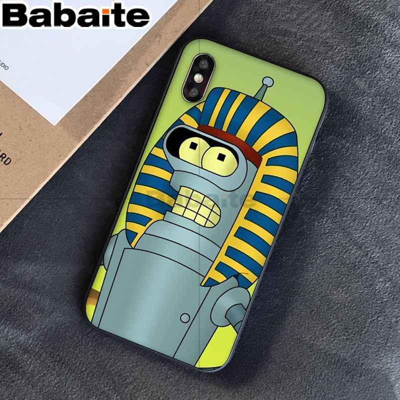 Babaite Futurama Bender Delle Cellule di Disegno di Vendita Caldo di Modo per il Caso di iphone 8 7 6 6S Plus 5 5S SE XR X XS MAX Coque Borsette