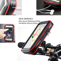 Touch Screen Bicycle Motocycle Bike Mobile Phone Holders Case Bags For Huawei Y9 2018 Enjoy 8