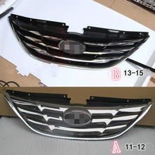 Top Quality ABS Car Front Grille For Hyundai SONATA Eight Generations 2011-2012 2013-2015 футболка wearcraft premium slim fit printio зомби на черепе