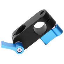 90 องศามุมขวา 15mm Rod Rig Clamp Adapter สำหรับ 5D2 5D3 A7sGH4 DSLR กล้องระบบถ่ายภาพ Photo Studio handgrip Monit